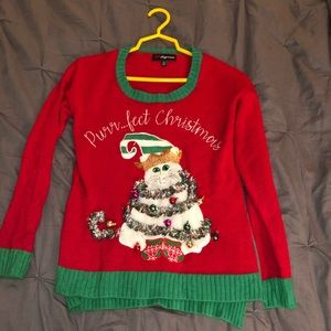 Sweaters - Ugly Christmas Sweater - Real Tinsel and Bells!